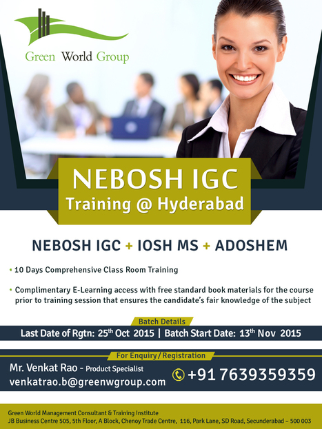 Nebosh Course In Hyderabad Www Greenwgroup Co