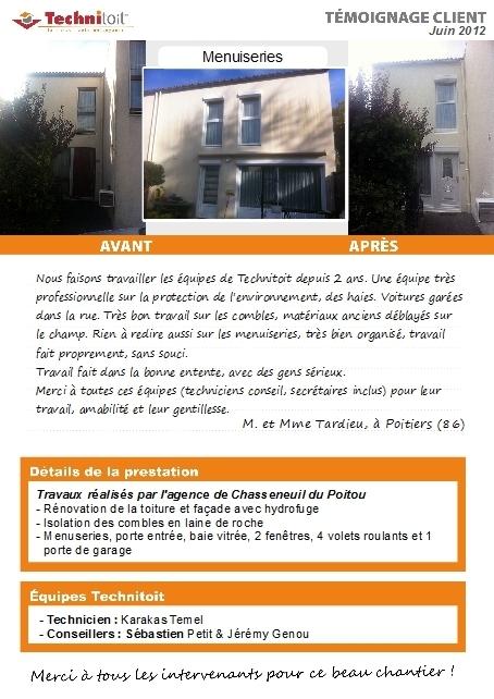[témoignage] Travaux rénovation façade, toitures, menuiseries et isolation combles à Poitiers (86)