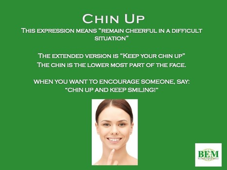 CHIN UP | Learning English Matters | Scoop.it