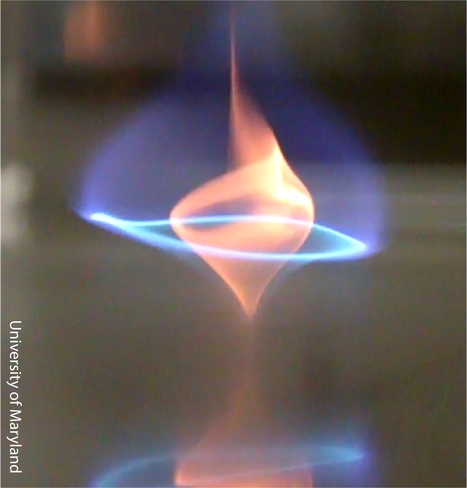 Newly Discovered 'Blue Whirl' Fire Tornado Burns Cleaner for Reduced Emissions | Amazing Science | Scoop.it