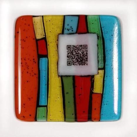 QR Code Fused Glass Art | artcode | Scoop.it