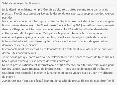 Message d'un survivant aux survivants et aux médias | Bugarach | Scoop.it
