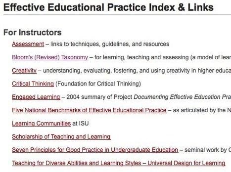CELT - Effective Educational Practice - Iowa State University | Learning, Teaching & Leading Today | Scoop.it