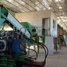 Waste sorting machine, waste recycling plant, waste treatment plant