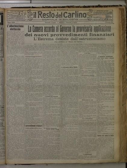 Il Resto del Carlino 1914-1918: la guerra in prima pagina | Généal'italie | Scoop.it