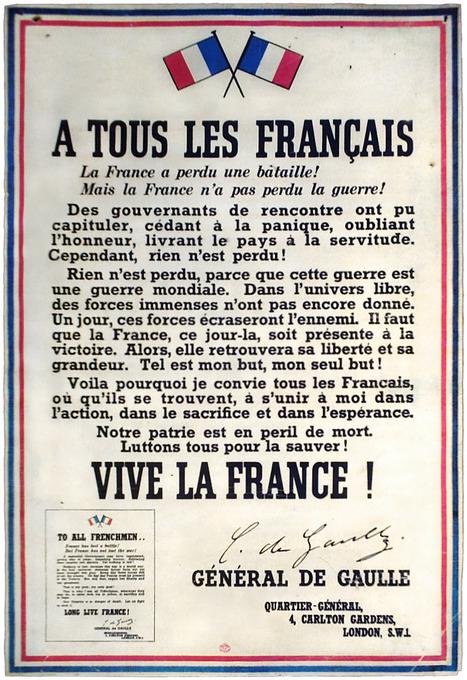 Appel de Gaulle | Great historical speeches | Scoop.it