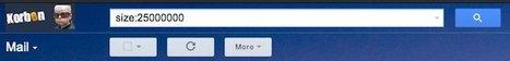 Faites un peu de place dans votre boite Gmail | netnavig | Scoop.it