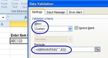 Excel Data Validation Examples Custom Criteria | Data Management, Data Quality | Scoop.it