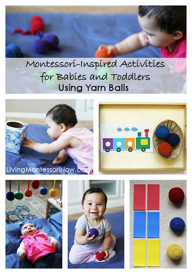 Montessori Monday – Activities for Babies and Toddlers Using Yarn Balls | Montessori Inspired | Scoop.it