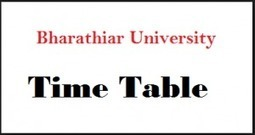 Bharathiar University Time Table 2018 Nov Dec U