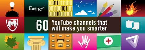 60 YouTube channels that will make you smarter — Medium | Learn Rinse Repeat | Scoop.it