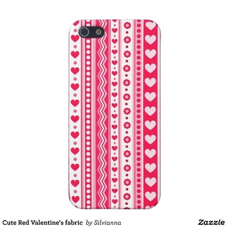 Cute Red Valentine's fabric Case For iPhone 5 from Zazzle.com | Cute floral iPhone Cases | Scoop.it