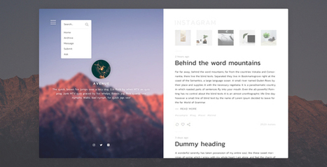 Avenue - Stunning Blogging Tumblr Theme | Blogger themes | Scoop.it