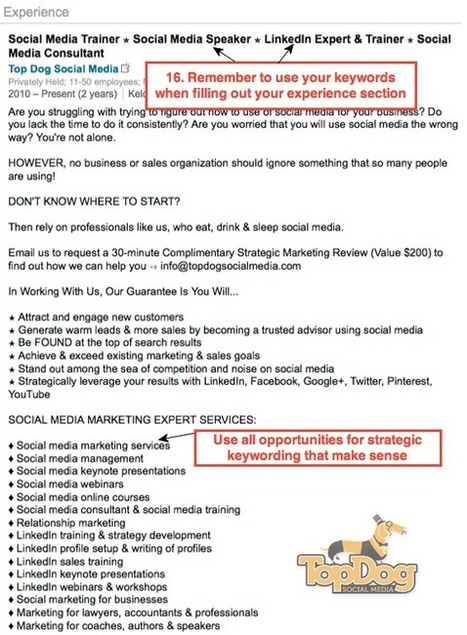 19 Steps To The Perfect LinkedIn Profile | social: who, how, where to market | Scoop.it