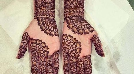 Latest Simple Mehndi Designs For Front Hands St