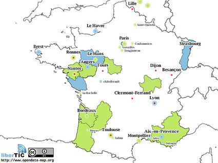 La carte de France de l'open data auquotidien | L'Open Data fait son chemin | Scoop.it