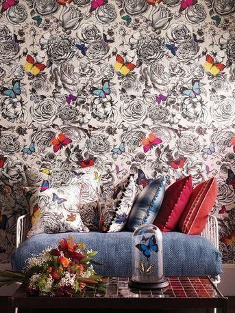 39 rev tement mural 39 in tissu d 39 ameublement art textile et papier peint de luxe. Black Bedroom Furniture Sets. Home Design Ideas