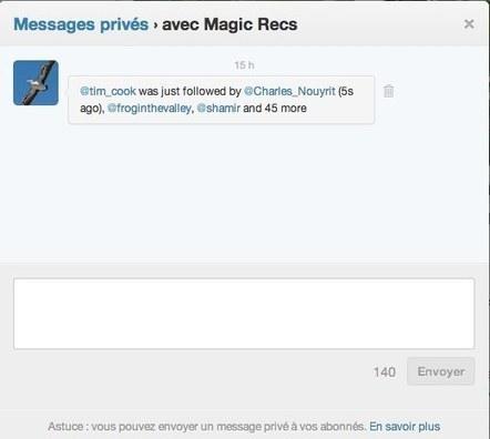 MagicRecs vous transmet des recommandations personnalisées de comptes à suivre sur Twitter | Mon cyber-fourre-tout | Scoop.it