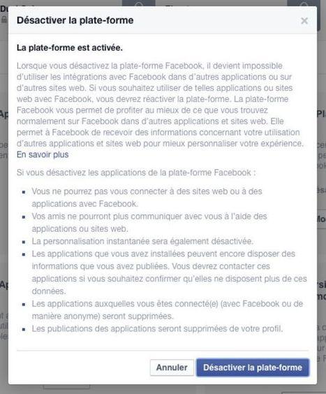 Astuce geek : comment désactiver toutes les applications Facebook en un clic | Médias Sociaux 2.0 | Scoop.it