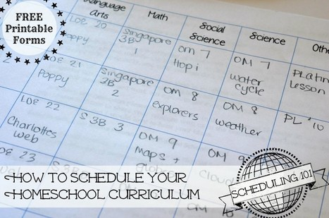 Homeschool Scheduling 101: Planning Your Year - Only Passionate Curiosity | HCS Learning Commons Newsletter | Scoop.it