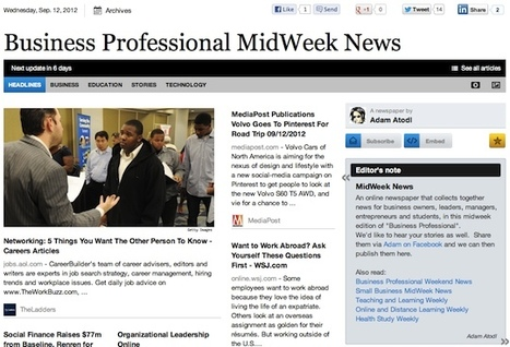 Sept 12 - Business Professional MidWeek News | Transformations in Business & Tourism | Scoop.it