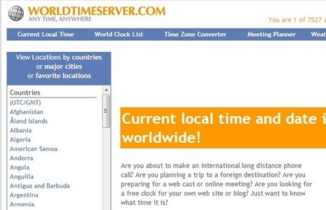 Best Online Time Zone Converters | Technology and Online Tools - Cometdocs Blog | Distance Ed Archive | Scoop.it