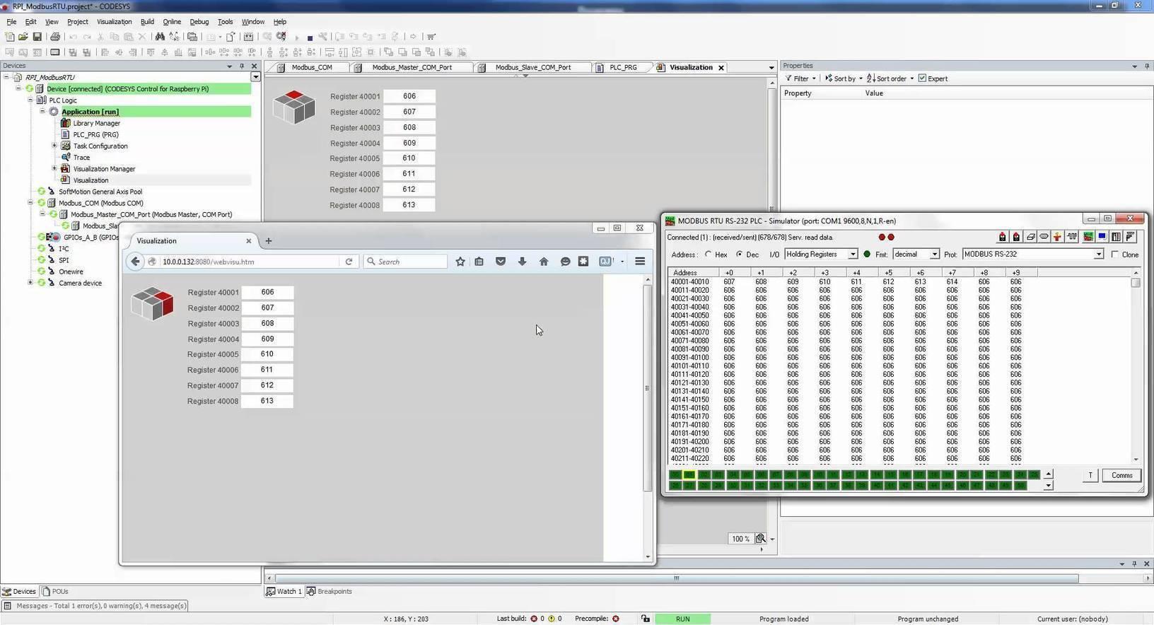 Raspberry Pi 2 : Codesys PLC Modbus RTU Master