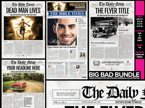 Newspaper Template for Adobe InDesign CS6 | New...