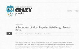 A Round-up of Most Popular Web Design Trends 2012 | timms brand design | Scoop.it