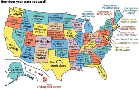 Infographic: United States of the Environment | The Geography Classroom | Scoop.it