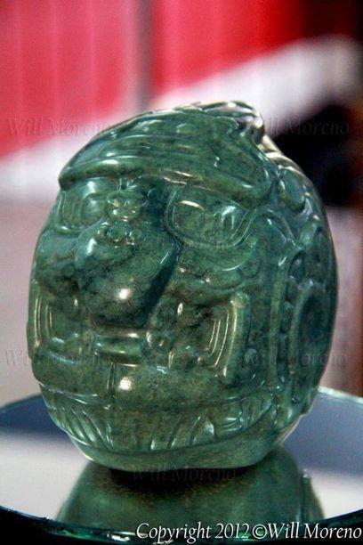 The Maya Sun God - Kinich Ahau - Belize Maya Jade Head | Belize in Photos and Videos | Scoop.it