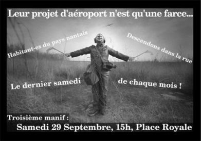 [Nantes] 3ème manif mensuelle contre l'aéroport - IMC Nantes   # Uzac chien  indigné   Scoop.it