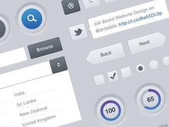 Dribbble - Freebies - Mobile and Web UI Kit by Sunil Joshi | Lectures web | Scoop.it