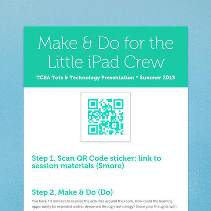 Make & Do for the Little iPad Crew | Ed Tech Sites to Explore | Scoop.it