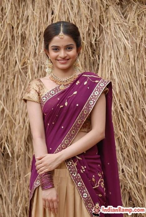 623f83ed79c Half Saree Models Actresses Andhra Girls