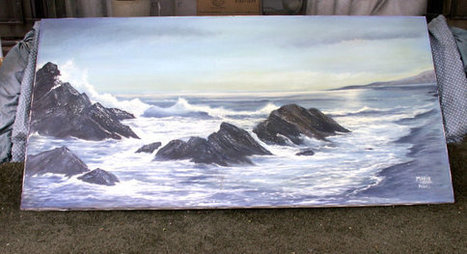 REDUCED Vintage Oil Seascape by Maria the Sea at Dusk | Photos4Share | Scoop.it