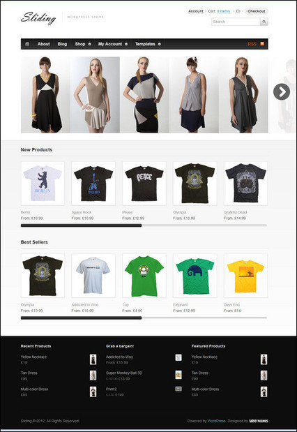 YES Wordpress Can Rock ECom: 55+ Best Wordpress eCommerce Themes   Design Revolution   Scoop.it