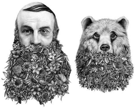 #Surreal #Graphite #Drawings by 'Violaine & Jeremy' Merge Nature and Humour. #art | Luby Art | Scoop.it
