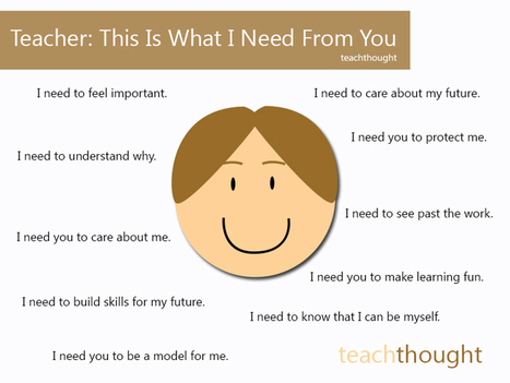 Teachers: This Is What I Need From You | TeachThought | Scoop.it
