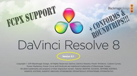 Update Alert: DaVinci Resolve 8.1: FCPX support, lots of little things   Video Breakthroughs   Scoop.it