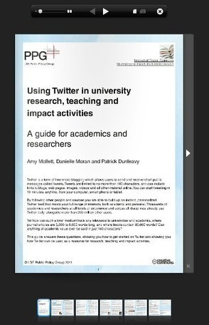Available now: a guide to using Twitter in university research, teaching, and impact activities | Learning-centered Instruction | Scoop.it