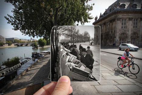 #Photographie : Traversez les époques grâce à ces magnifiques photographies qui superposent le Paris d'hier et d'aujourd'hui   photography art   Scoop.it