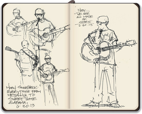Sheehan's Sketchbook: the Garcetti inauguration - 89.3 KPCC (blog) | Artifact Journals: Documenting the Artistic Process | Scoop.it