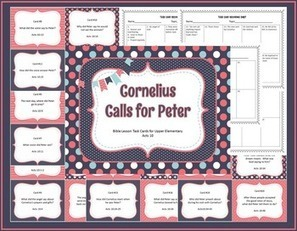 Cornelius Calls for Peter Bible Lesson Task Cards | Children's Ministry Ideas | Scoop.it