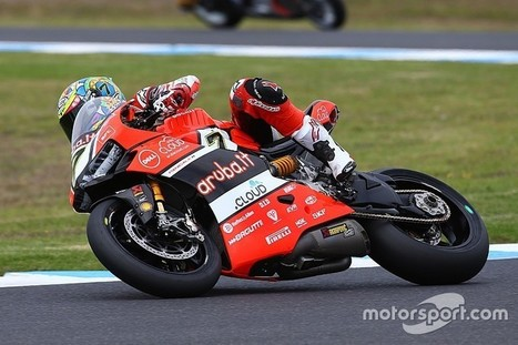 Second place for the Ducati team in Race 1 in Phillip Island with Chaz Davies | Ductalk Ducati News | Scoop.it