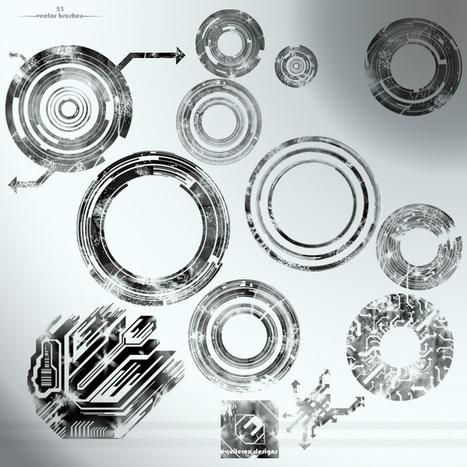 25 pinceles para Photoshop de vectores circulares   Pinsho.com   Recursos   Scoop.it