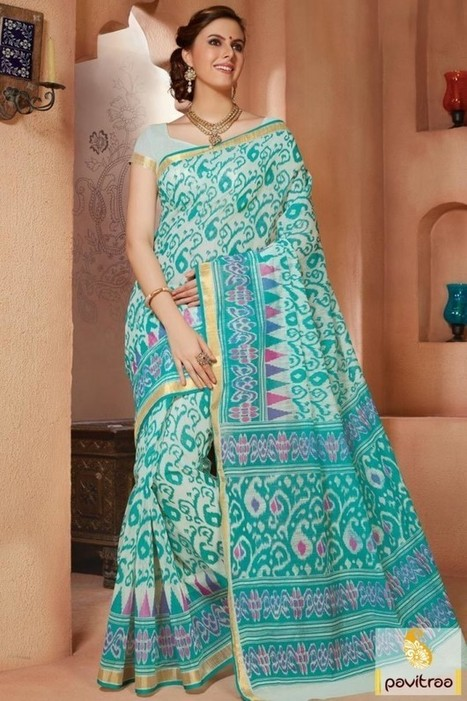 Indian Printed Cotton Sarees Online At Low Cost