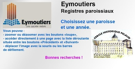 Les registres paroissiaux des Archives municipales d'Éymoutiers (Haute-Vienne) en Ligne sur Internet   Rhit Genealogie   Scoop.it