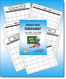 School Year Calendar Freebies | Seasonal Freebies for Teachers | Scoop.it