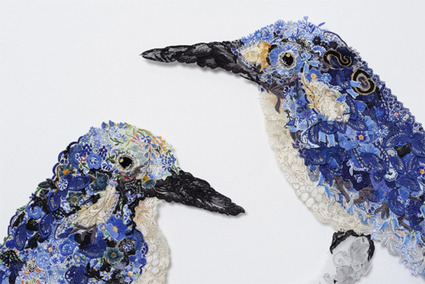 Reclaimed Needlework of Louise Saxton « StitchPunk | Contemporary Textile Artists | Scoop.it